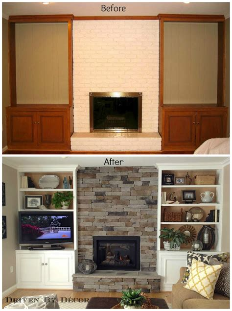 Bookcase Fireplace by Transforming A Fireplace And Built In Bookcases Driven