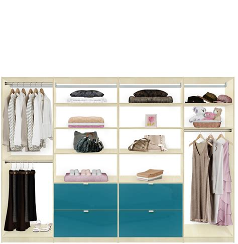 isa closet system xl maximize large closets with drawers