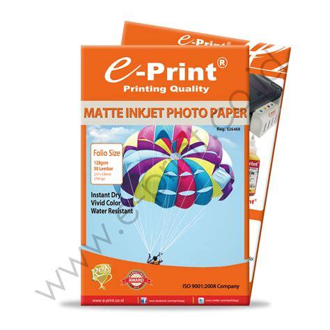 Kertas Foto Matte matte inkjet photo paper folio 128gsm 50sheet e print