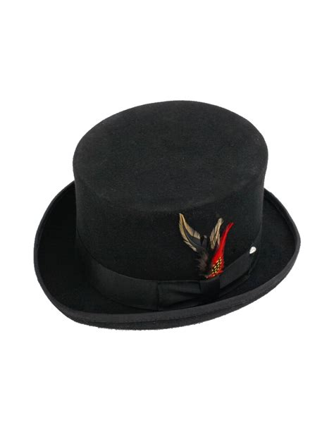 best mens hats new s 100 wool black top hat all sizes ebay