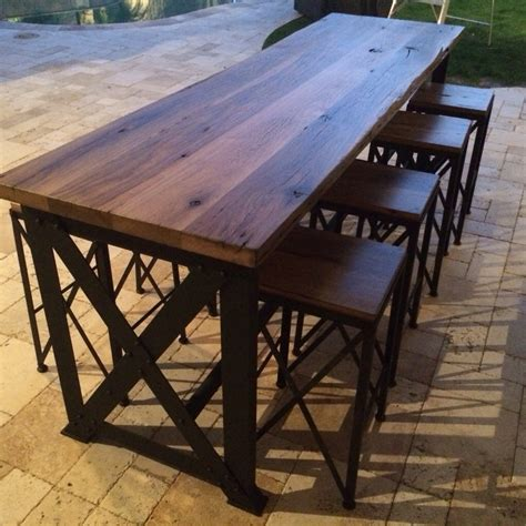 reclaimed oak ash outdoor bar table outdoor bar table