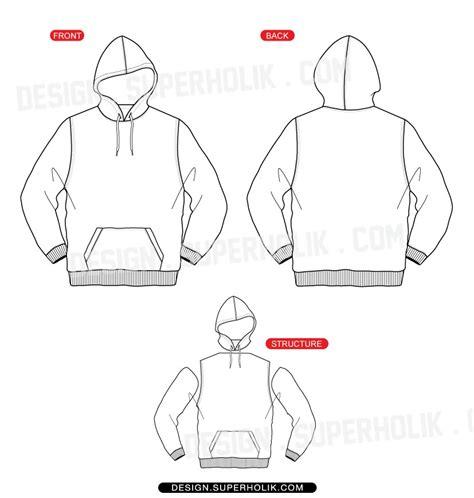 image gallery hoodie flat sketch