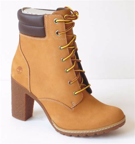 timberland high heel boots timberland s tillston 6 inch high heel wheat leather