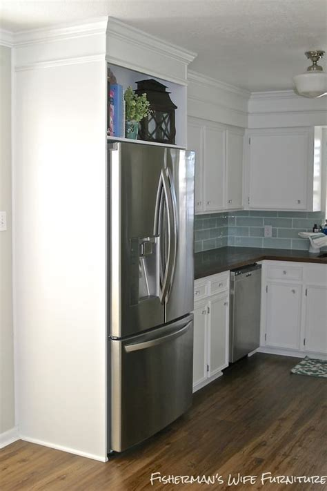 white kitchen makeovers small white kitchen makeover with built in fridge