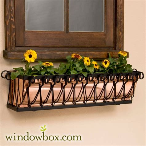 copper window boxes 36in mar heights copper window box window boxes up