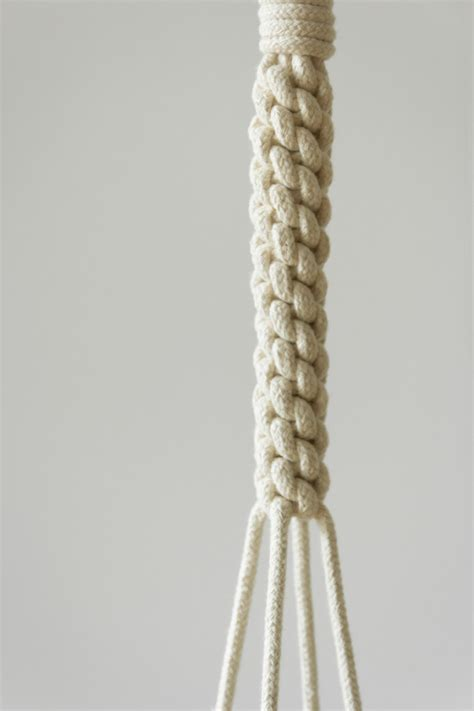 Knot Macrame - macram 233 plant hanger using 5 mm cotton rope macrame is