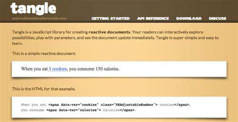 tangle javascript librer 237 as de javascript plugin para generar diagramas