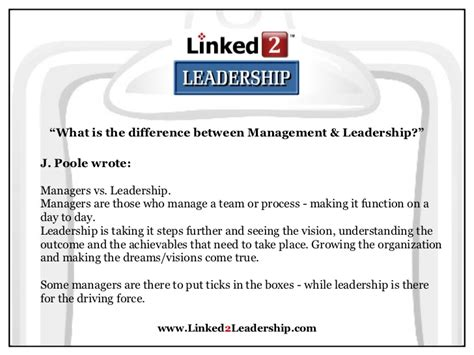 What Is The Difference Between Pmp And Mba by Management Vs Leadership Linked 2 Leadership