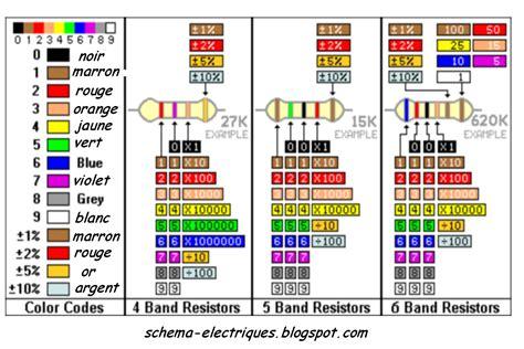 resistor code couleur avril 2011 schema electrique