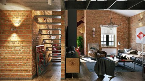 attractive loft apartment with an interior design made by