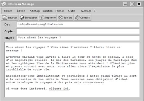 layout of an email in french reading comprehension voyage et vacance level a