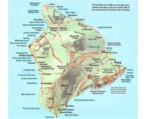 big map of usa maps of big island detailed map of big island in