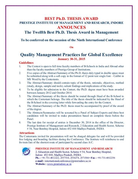Subjects Taught In Mba by Thesis Mba Management
