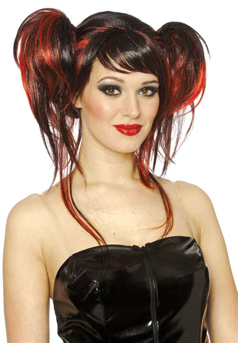 halloween hairstyles devil devil do red and black wig costume craze