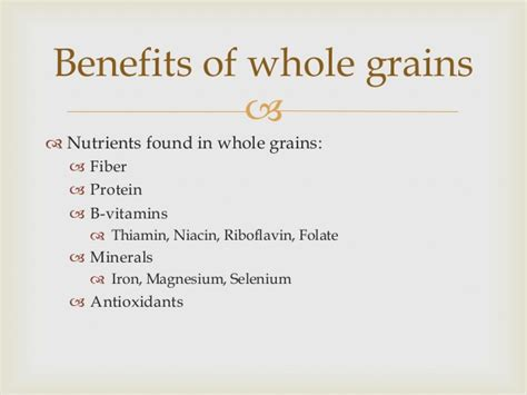 5 benefits of whole grains whole grain goodness