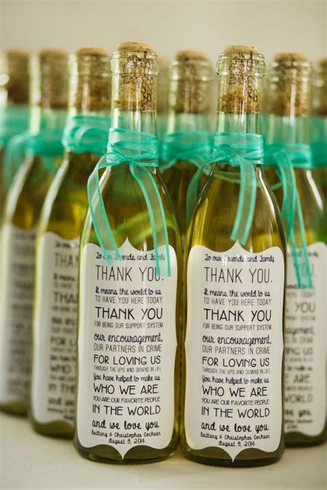 Wedding Favors Wine by 7 Wine Wedding Favors We