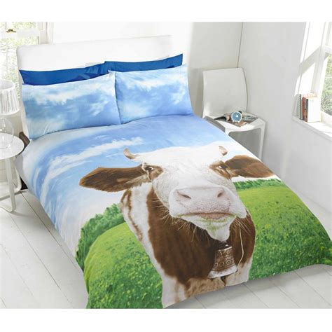 Cow Bedroom by Cow Single Duvet Cover Set New Bedding Ebay