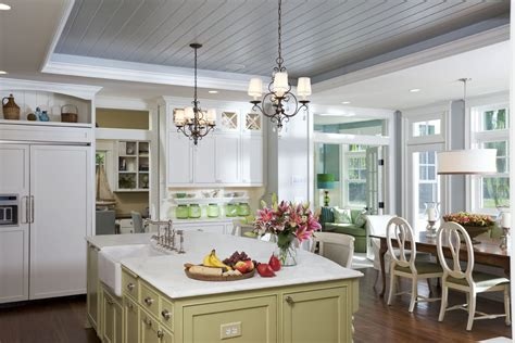 Beadboard Kitchen Ceiling by Staggering Tongue And Groove Ceiling Planks Decorating