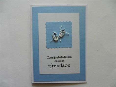Handmade Christening Cards From Grandparents - congratulations on your grandson handmade greeting card to
