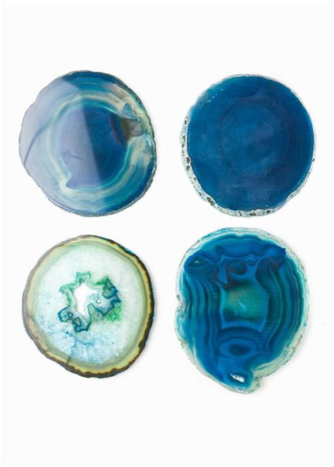 blue agate coaster agate coasters agate coasters agate and coasters