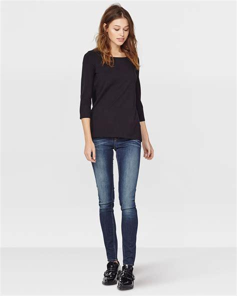 boat neck cotton shirt dames organic cotton boat neck shirt 79013611 we fashion