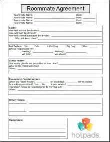 Roommate Contract Sle 10 best images about printable agreements on power of attorney form 30 day and real