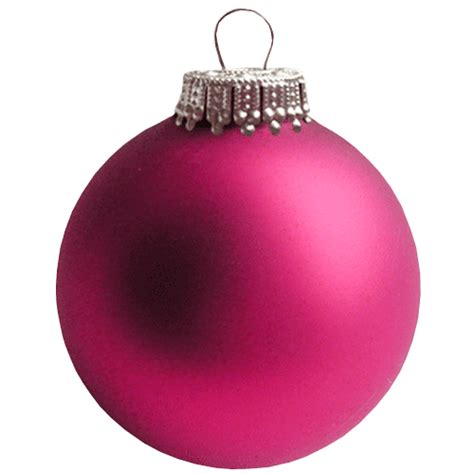 pink christmas bauble transparent background