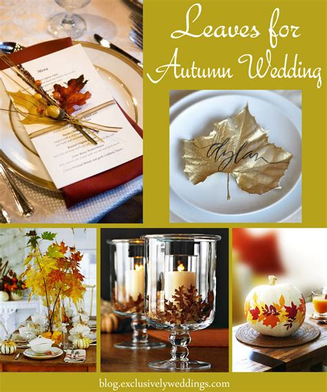 fall leaves wedding decorations let nature decorate your fall wedding exclusively