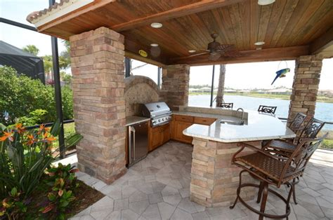 Kitchen Patio Ideas Outdoor Kitchen Cabinets Traditional Patio Ta