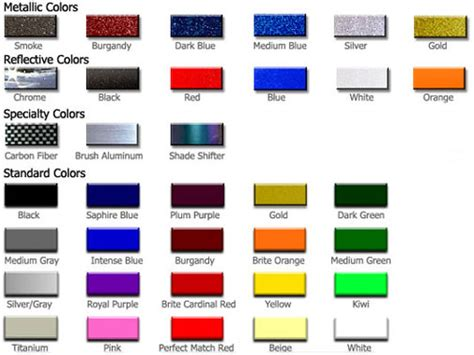 8 best images of metallic paint chart metallic car paint