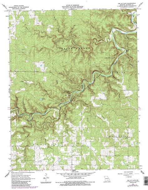 missouri caves map jam up cave topographic map mo usgs topo 37091a5