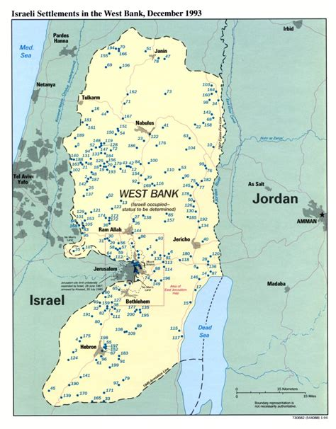 west bank map palestine
