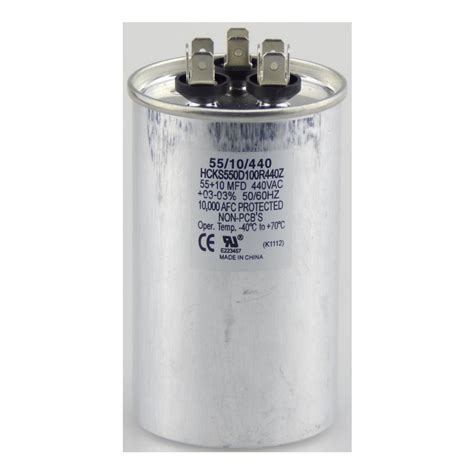 run capacitor specifications tradepro 440 volt 10 10 mfd dual motor run capacitor tpr1010440 the home depot