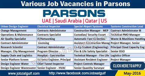 design engineer job in dubai job vacancies in parsons uae saudi arabia qatar us