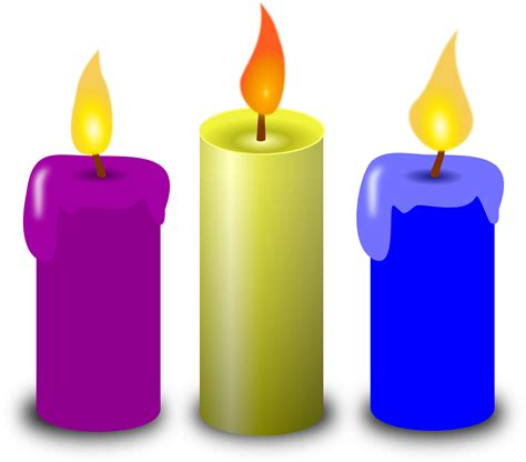 colored candles colored candles vector clipart image free stock photo
