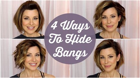 hairstyles to cover bangs 4 quick ways to hide your bangs youtube