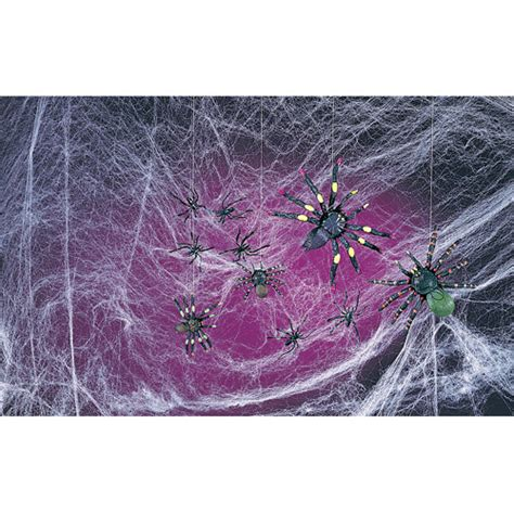 Decorations Spider Web by Spooky Spiders And Webs Decoration Walmart