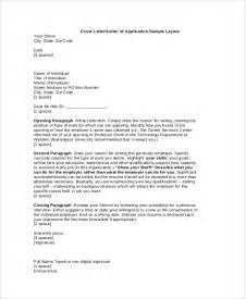 Covering Letter Layout by Sle Resume Cover Letter 8 Exles In Pdf Word