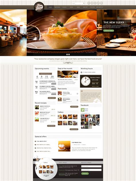 themeforest restaurant fine food restaurant responsive wordpress theme by