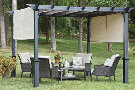 Replacement Canopy For Garden Treasures 10 Pergola The Pergolas With Canopy