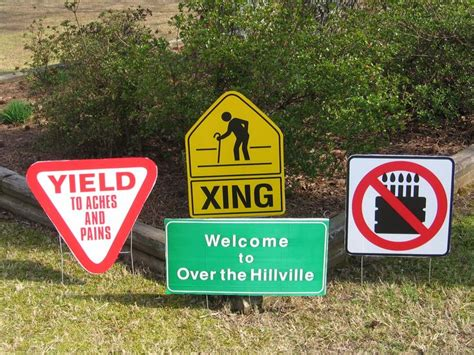 printable over the hill road signs 17 best images about birthday signs on pinterest 50th