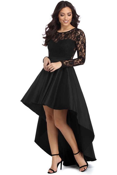 Dress Tamina tamia black lace drama dress