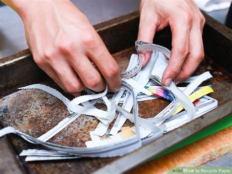 How To Make Recycled Paper Without A Screen - 4 ways to recycle paper wikihow