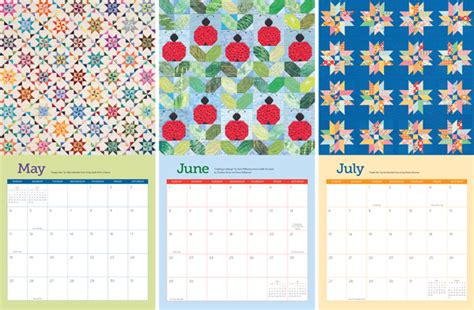calendar design pattern 2014 quilt calendars are here giveaway and sale