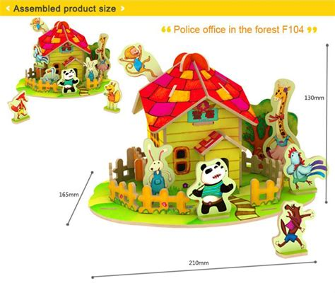 3d Puzzle Robotime Post Office In The Forest F108 toys hobbies sale robotime 3d puzzle buy toys hobbies sale educational diy kid
