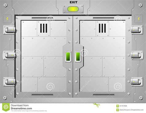door graphics sliding steel door stock vector image 61767606