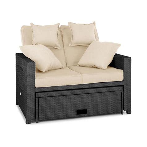 sitzpolster lounge gartenmöbel komfortzone rattan lounge sofa zweisitzer polyrattan