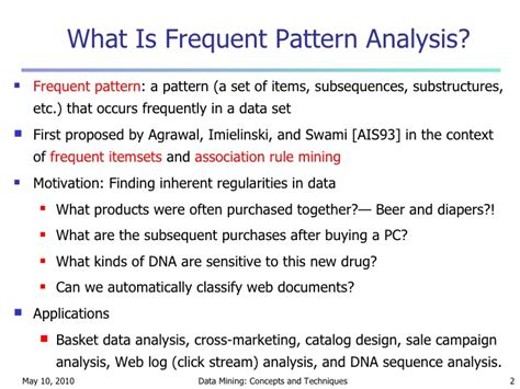 pattern analysis lecture dermoscopy lecture for chapter 5 mining frequent patterns