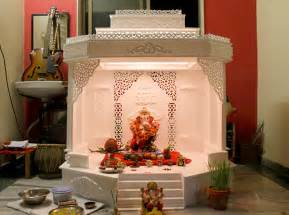 home temple decoration ideas on behalf of shree ganesh on behance