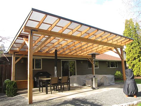 patio support beams modern patio outdoor